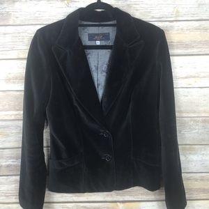 JUICY COUTURE JEANS black velour blazer size L
